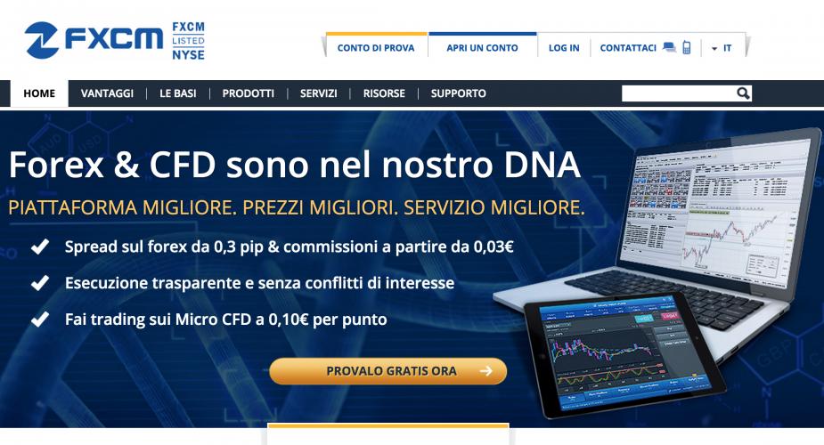Fxcm Broker Forex Leader nel trading su Valute