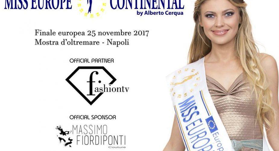 Miss Europe Continental 2017 – La Finale Europea