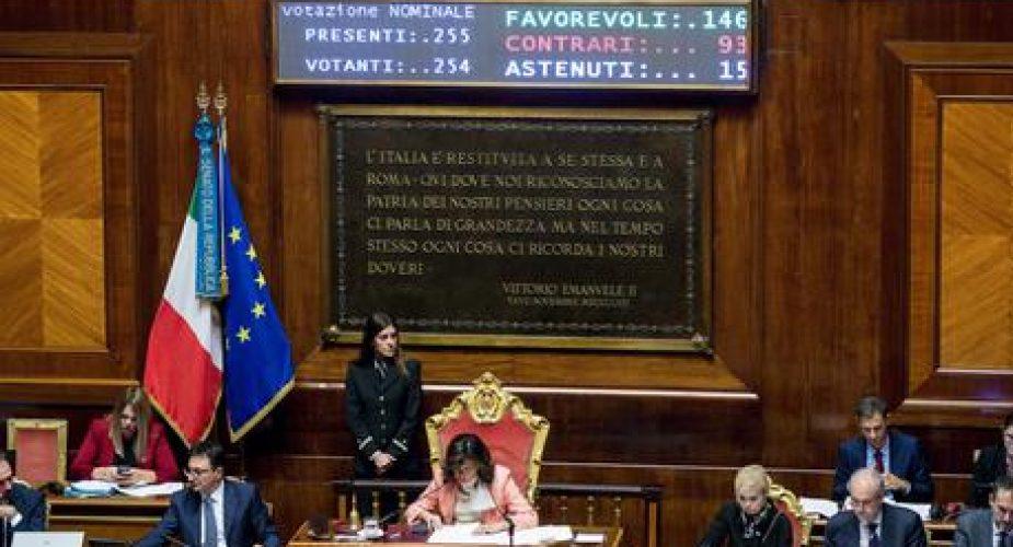 Ue: Senato vota risoluzione maggioranza, 146 Sì