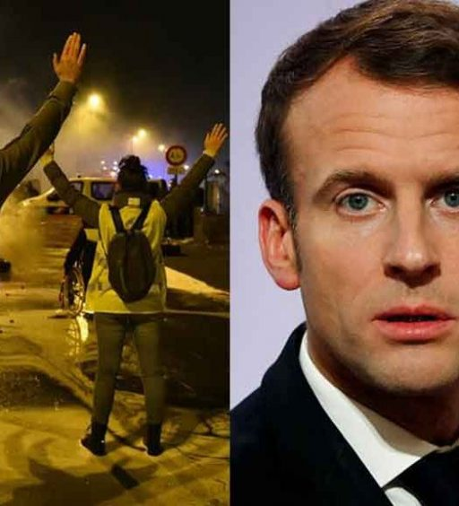 Gilet gialli, Macron precipita nei sondaggi. E i manifestanti lo contestano