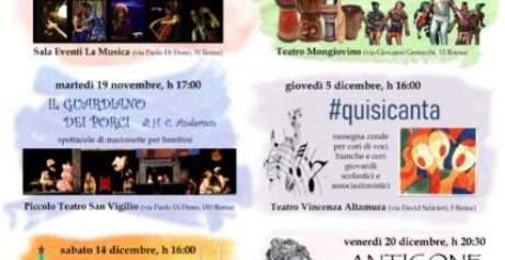 """Arriva la rassegna """"(ri)conoscersi a Teatro"""", organizzata da SPERIMENTIAMO Arte Musica Teatro e Roma Capitale – Municipio VIII"""